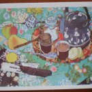 Vintage Note Card Tea 1976 Portal Publications Still Life Food