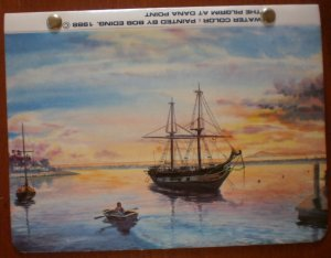 Vintage Photo Album Bob Eding Pilgrim At Dana Point Watercolor 1988 BJ Photo Express