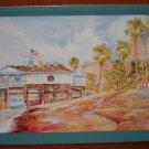 Rick Delanty Blank Note Card Pier Entrance San Clemente 1991