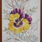 Chilton Vintage Greeting Card Floral Jewels Friendships F5103