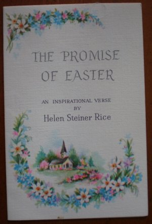 Gibson Inspirational Card Promise of Easter Helen Steiner Rice Vintage