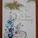 Chilton Vintage Greeting Card Floral Jewels Anniversary A5104