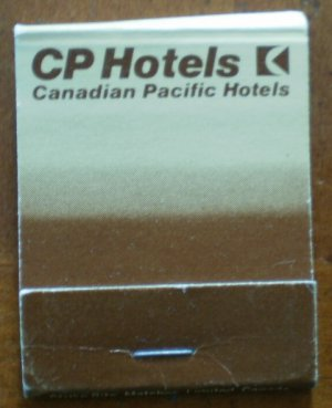 Vintage Matchbook CP Hotels Canadian Pacific Matches
