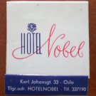 Vintage Matchbook Hotel Nobel Oslo Norway Matches