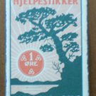Vintage Matchbook Hjelpestikker Nitedals Oslo Norway Green Box Matches