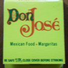 Vintage Matchbook Don Jose Restaurant Mexican Food California Matches