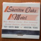 Vintage Matchbook Sheriton Oaks Motel Houston Texas Matches