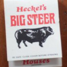Vintage Matchbook Heckel Big Steer Restaurant Steerburger Matches Wisconsin