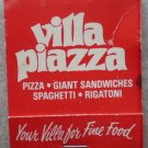 Vintage Matchbook Villa Piazza Restaurant Pizza Wisconsin Matches