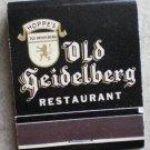 Vintage Matchbook Old Heidelberg Restaurant Hoppe's Van Nuys CA Matches