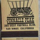 Vintage Matchbook Pinnacle Peak Restaurant San Dimas California Matches