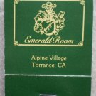 Vintage Matchbook Emerald Room Restaurant Torrance CA Matches