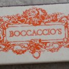 Vintage Matchbook Boccaccio's Restaurant Westlake Village CA Matches Matchbox