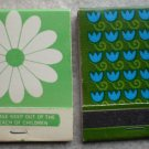 Vintage Matchbook Flower Floral Tulips Daisy Matches Lot 2