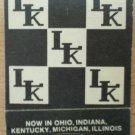 Vintage Matchbook LK Family Restaurant Motel Matches