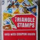 Vintage Matchbook Triangle Stamps Offer Coupon Matches