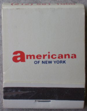 Vintage Matchbook American Hotels New York Matches