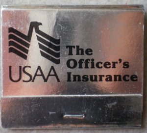 Usaa Cashiers Check >> Vintage Matchbook USAA Officers Insurance San Antonio ...