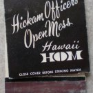 Vintage Matchbook Hickam Offers Club Hawaii HOM Matches