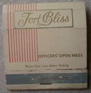 Vintage Matchbook US Army Air Defense Center Fort Bliss Matches