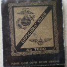 Vintage Matchbook El Toro Officers Club Matches