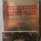 Vintage Matchbook Junction Eating Place De Kalb Illinois Matches