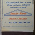 Vintage Matchbook Nordic Steak Pub Swedish Manor Smorgasbord Matches