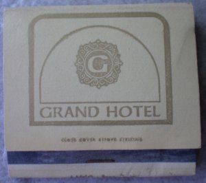 Vintage Matchbook Grand Hotel Anaheim California Matches