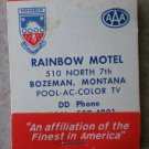 Vintage Matchbook Rainbow Motel Bozeman Montana Matches