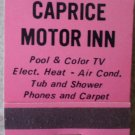 Vintage Matchbook Caprice Motor Inn Clarksville Arkansas Matches