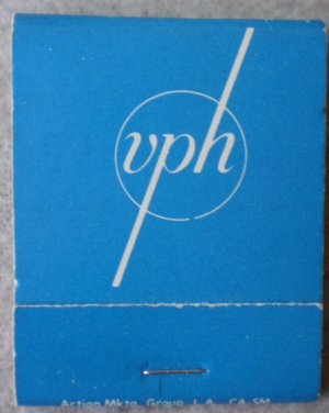 Vintage Matchbook VPH Valley Presbyterian Hospital Van Nuys California Matches