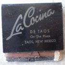 Vintage Matchbook La Cocina De Taos on the Plaza New Mexico Matches