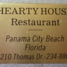 Vintage Matchbook Hearty House Restaurant Panama City Beach Florida Matches Matchbox