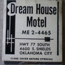 Vintage Matchbook Dream House Motel Oklahoma City Matches
