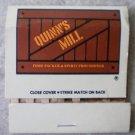 Vintage Matchbook Quinns Mill Food Packer Matches