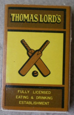 Vintage Matchbook Thomas Lord Restaurant Universal City San Francisco Matches Matchbox
