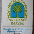 Vintage Matchbook Furnace Creek Inn Ranch Resort Death Valley California Matches
