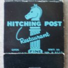 Vintage Matchbook Hitching Post Restaurant Blue Hwy 66 Missouri Matches