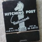 Vintage Matchbook Hitching Post Restaurant Light Blue Hwy 66 Missouri Matches