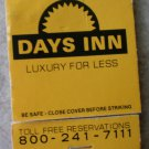 Vintage Matchbook Days Inn Dallas Fort Worth Texas Matches