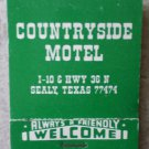 Vintage Matchbook Countryside Motel Sealy Texas Matches