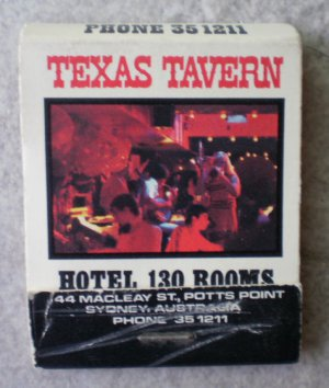 Vintage Matchbook Texas Tavern Hotel Harpoon Harry Matches