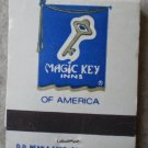 Vintage Matchbook Magic Key Inns of America Matches