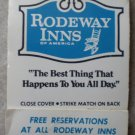 Vintage Matchbook Rodeway Inn Stop Tonite Logo Matches