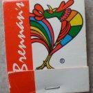 Vintage Matchbook Brennan's Restaurant Matches