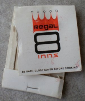 Vintage Matchbook Regal 8 Inn Affordable White Matches
