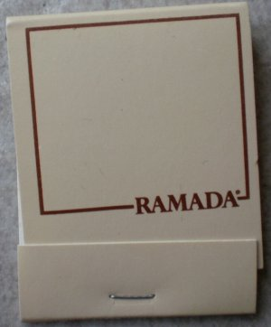 Vintage Matchbook Ramada Inn Beige Matches