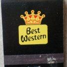 Vintage Matchbook Best Western Black Matches