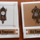 Vintage Matchbook Old Timepieces Clocks Lot 2 Matches