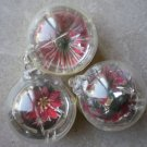 Jewelbrite Lot Christmas Ornaments Balls Plastic Flowers Poinsettias